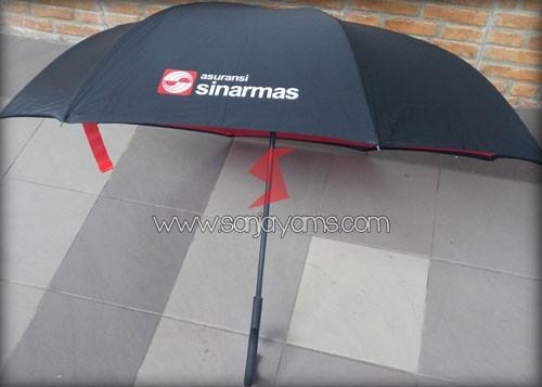Payung terbalik untuk souvenir Asuransi Sinarmas