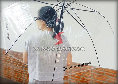 Posisi payung terbuka