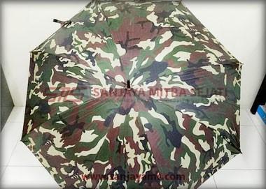 Detail bagian luar payung army