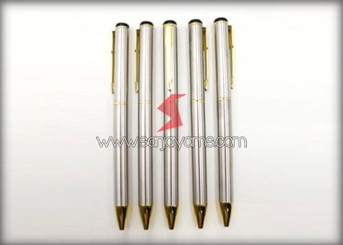 Pen Besi Silver Gold