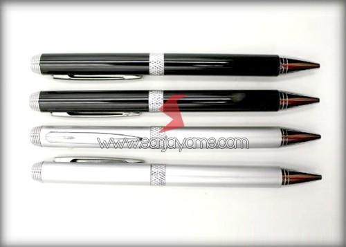 Pen Besi Hitam & Silver