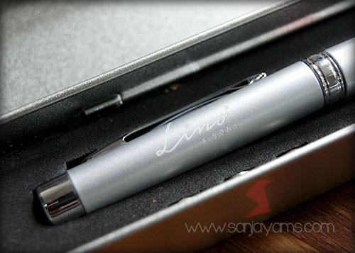 Hasil cetak laser logo Lino