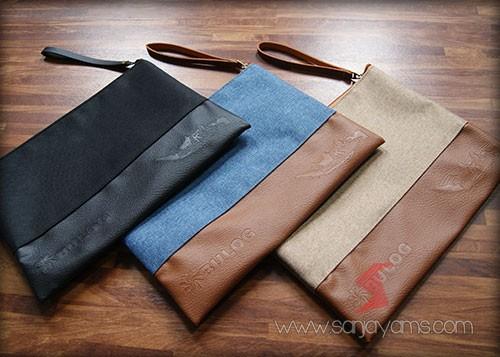 Pouch bag jeans dengan 3 pilihan warna