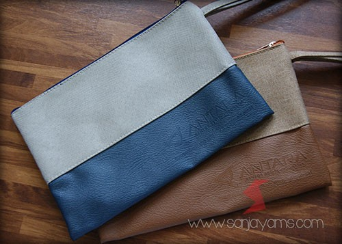 Pouch Bag Jeans Embos Antara