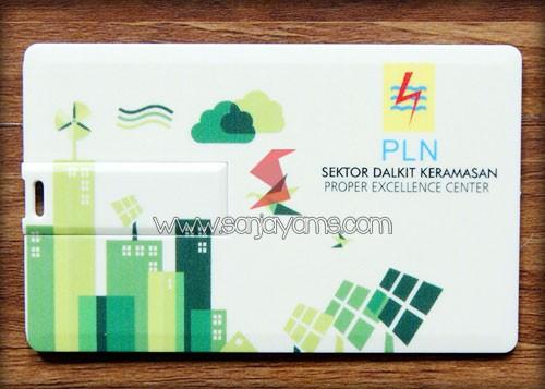 Detail cetakan USB Kartu promosi PLN