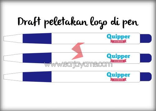 Contoh draft peletakan logo di pen