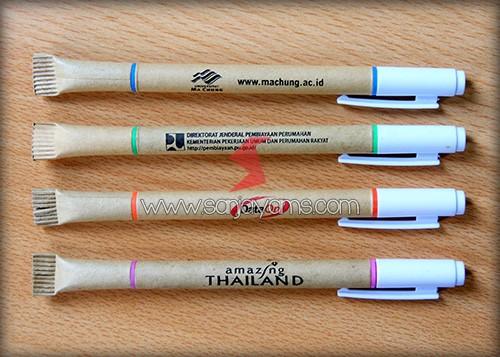 Hasil cetakan di pulpen