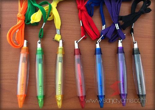 6 pilihan warna pen