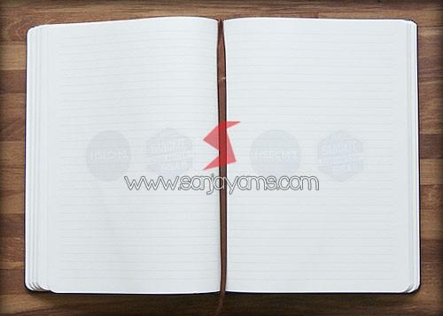 Detail bagian kertas memo buku