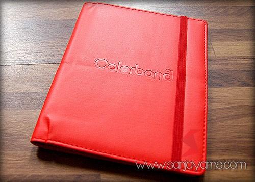 Cover memo kulit warna merah