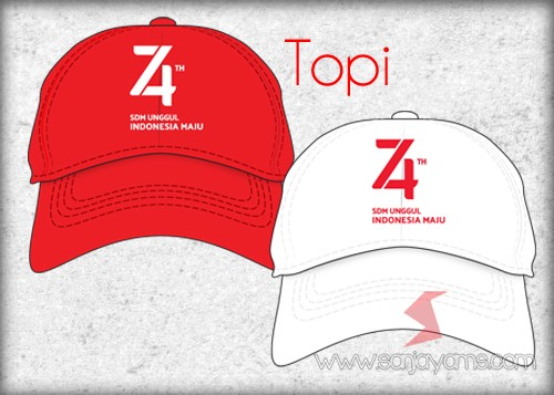 Topi Merah dan Putih 74 tahun Indonesia