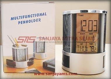 Packaging jam meja dan pen holder