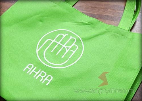 Tas Spunbond dengan bahan pur hijau