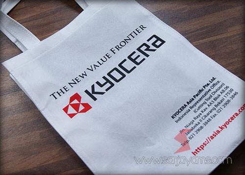 Hasil cetakan logo Kyocera