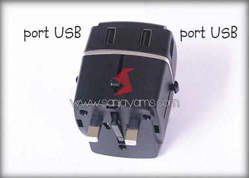 Ada 4 lubang Port USB