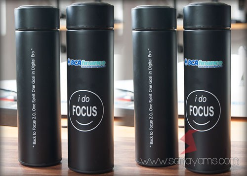 Tumbler BCA Finance warna hitam doff