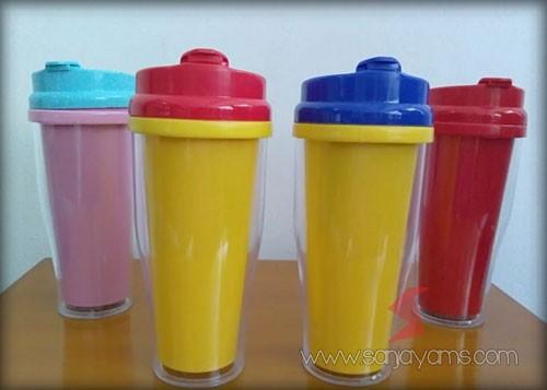 4 pilihan warna thumbler plastik colorfull