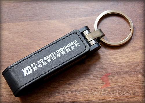Hasil cetak 1 warna di bagian kulit USB