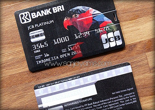 USB Kartu Bank BRI dengan design kartu kredit