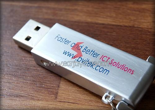Hasil cetakan 2 warna di USB