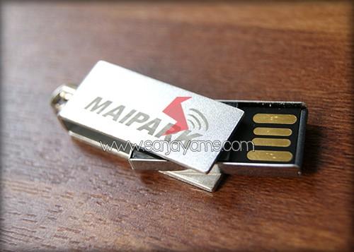 Hasil cetakan 1 warna di USB