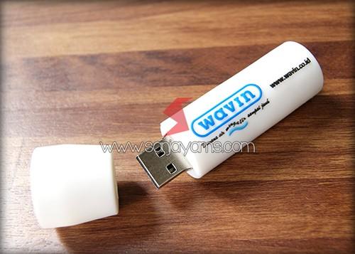 USB Rubber model Pipa Air tampak terbuka