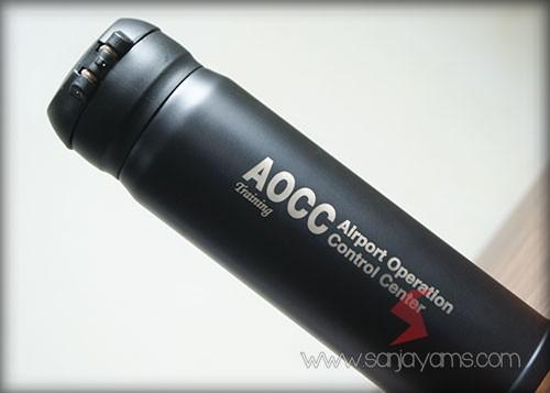 Detail hasil cetakan logo AOCC