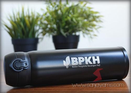 Hasil Cetak Logo BPKH Pada Tumbler