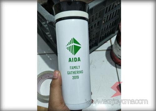 Hasil Cetakan Logo Aida pada Vacuum Thermos TV119