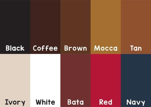 Pilihan warna kulit pouch