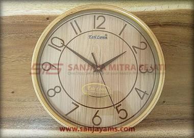 Jam Dinding Motif Kayu 25 cm