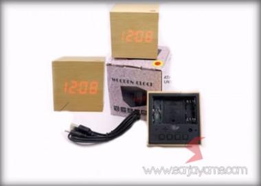 Jam Meja Kayu Digital (CMKD02)