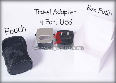 Travel Adaptor 4 Port USB (MT06)