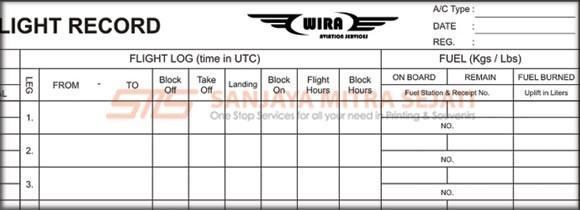 Flight Record WIRA AVIATION SERVICES