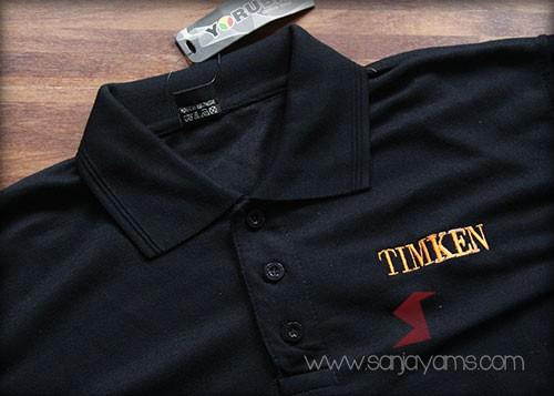 Baju dengan hasil bordir - Timken