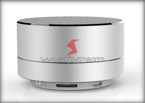 Bluetooth speaker warna silver