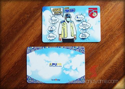 E-money dengan cetakan logo - PUPR
