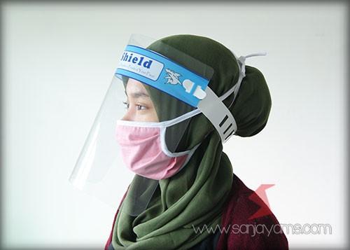 Face Shield Di gunakan