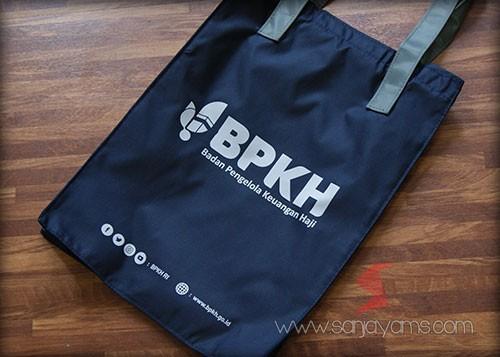 Tas bahan taslan dengan cetakan logo - BPKH