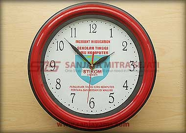 Jam promosi warna merah - Stikom
