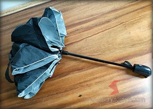 Detail payung otomatis buka tutup