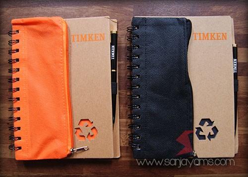 Memo kantong warna oranye dan hitam - Timken