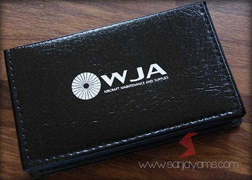 Memo kulit cetakan logo - WJA