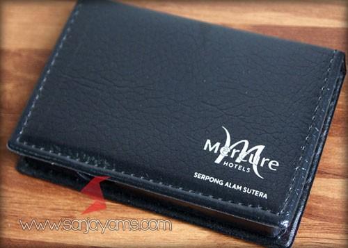 Cetak sablon 1 warna (Silver) di Memo Kulit Kotak - Hotel Mercure Serpong