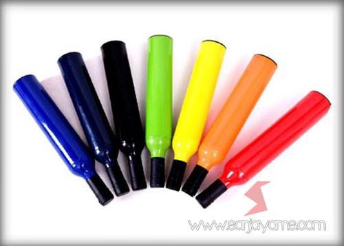 Detail warna-warna pada botol payung