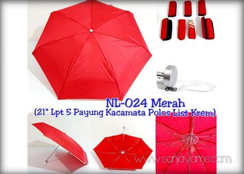 Payung dompet warna merah