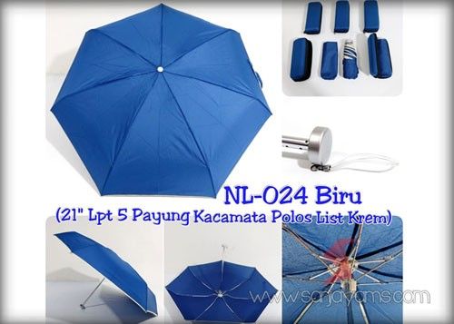 Payung dompet warna biru BCA