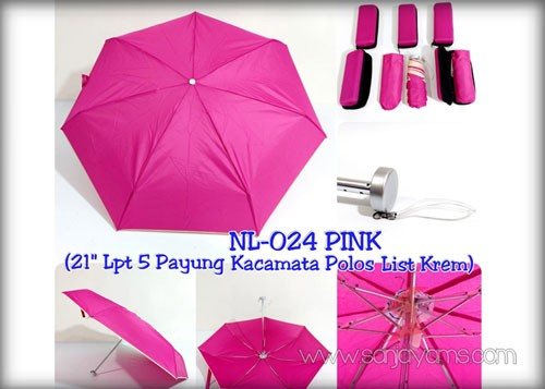 Payung dompet warna Pink