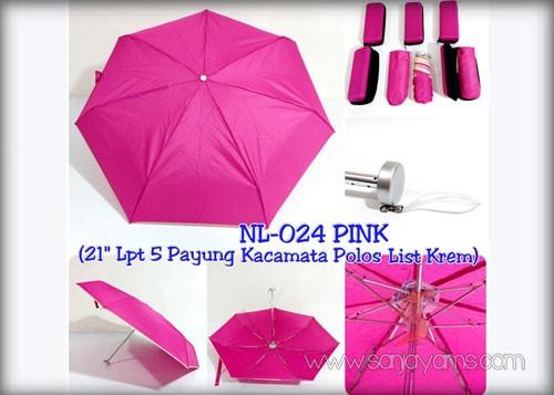 Payung dompet lipat 5 Pink