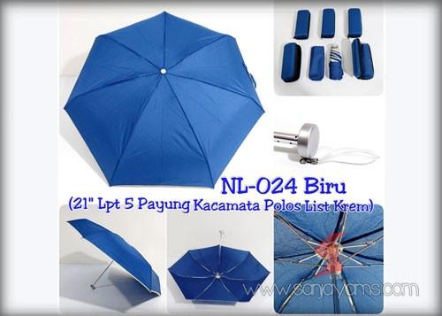 Payung dompet lipat 5 biru
